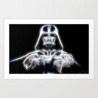 Darth Vader Electric Ghost Art Print