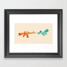 Aquachine Gun Framed Art Print