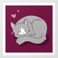 Kitty Love Art Print