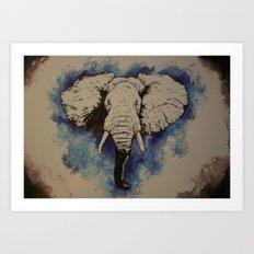 Glorious Elephant Art Print