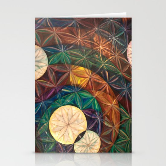 Tetrahedral Nodes HDR Stationery Card