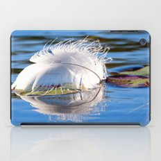 Swan Feather on Lake iPad Case