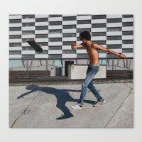 Skate boarding guy Canvas Print