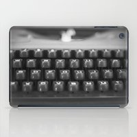 in black and white iPad Case