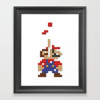 Super Mario Tetris Framed Art Print