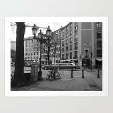 Limousine at Gartnerplatz - Munich Art Print