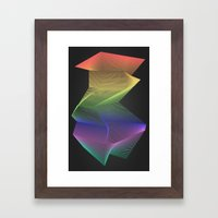 Angular Rainbow Framed Art Print
