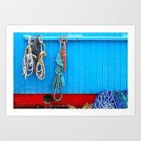 Galway: Boat Rope Art Print
