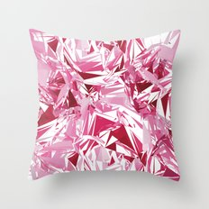 Broken Peony Throw Pillow