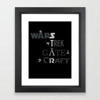 Geek All Stars Framed Art Print