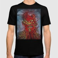 Zombie - With It's Brain… Mens Fitted Tee Black SMALL