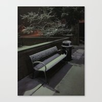 The Cold Bench Waits For… Canvas Print