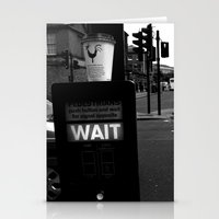 Pedestrians Wait Stationery Cards