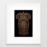Viking Rabies Framed Art Print