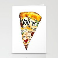 You've got a PIZZA of my Heart Stationery Cards