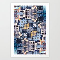 Community Of Cubicles Art Print