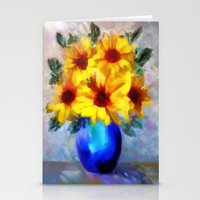 FLOWERS - A Vase Of Sunf… Stationery Cards