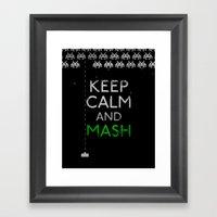 Keep Calm And Mash Framed Art Print