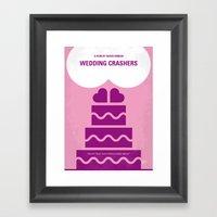 No437 My Wedding Crashers minimal movie poster Framed Art Print