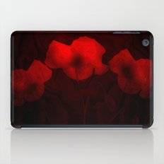 FLOWERS - Poppies aglow iPad Case