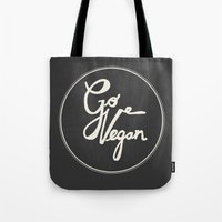 Go Vegan Grey Tote Bag