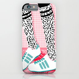 iPhone & iPod Case - Aiight - sports fashion retro throwback style 1980s neon palm springs socal country club hipster - Wacka