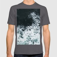 Ocean's glass Mens Fitted Tee Asphalt SMALL