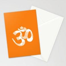 Orange Damask OM - spiritual  Stationery Cards