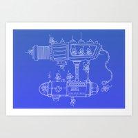 SPACE WORKERS Art Print