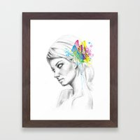 Butterfly Queen Framed Art Print