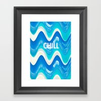 CHILL BEACH WAVE Framed Art Print