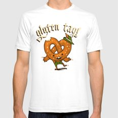 Gluten Tag Mens Fitted Tee White SMALL