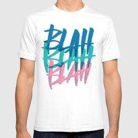 BLAH BLAH BLAH Mens Fitted Tee White SMALL