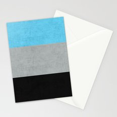 Tri Colour Stripes Stationery Cards