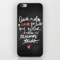O Amor é Tudo iPhone & iPod Skin