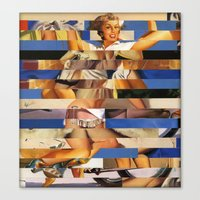 Glitch Pin-Up Redux: Que… Canvas Print