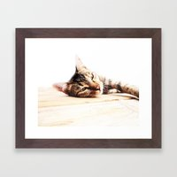 Cats Love Framed Art Print