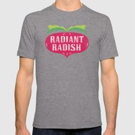 Radiant Radish Mens Fitted Tee Tri-Grey SMALL