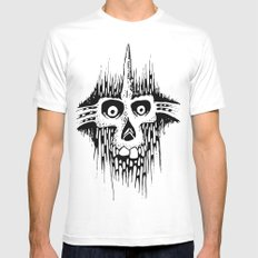 Skully Line SMALL White Mens Fitted Tee