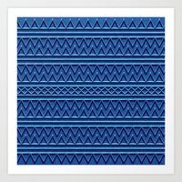 3D Chevrons And Lines In… Art Print