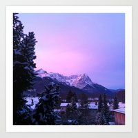 The Glow Of The Alps Art Print