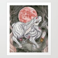 Art Print featuring Myth Of The Rabbit's Foo… by Bonnie Johnson