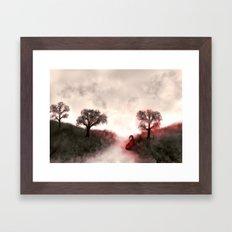 Dream Red Framed Art Print
