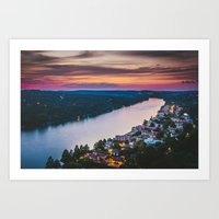 Above the River Art Print