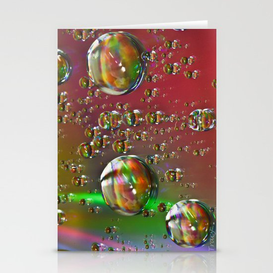 Multi-Color Drops Stationery Card