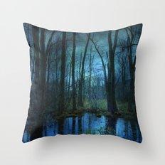 Woodland Twilight Throw Pillow