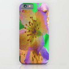 Purple Flowers - Watercolour Painting iPhone 6 Slim Case