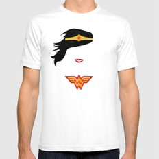 Wonder Girl SMALL Mens Fitted Tee White