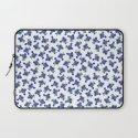 Violet Flowers Pattern 02 Laptop Sleeve