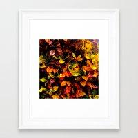 Red, Yellow, Green Framed Art Print